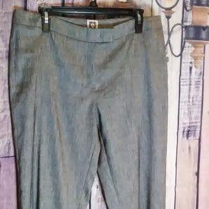 Anne Klein Linen Blend Dress Slacks